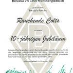 Urkunde 10 Jahre Rauchende Colts 2014
